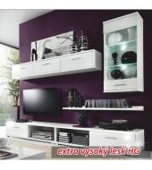 Obývacia stena biela/biely vysoky lesk, MULIBU OS
