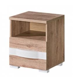 Nočný stolík, san reno / biela, ROVIN R - 14