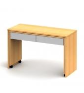 PC stôl rozkladací, buk/biela, VERSAL NEW