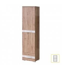 Skriňa R-03, 2 dverová, san reno / biela, ROVIN R-03