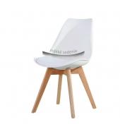 Stolička, biela+buk, BALI