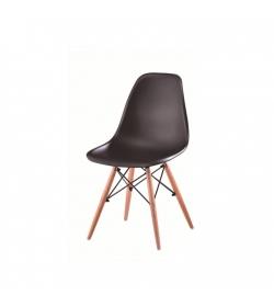 Stolička, čierna + buk, PC-015, Cinkla