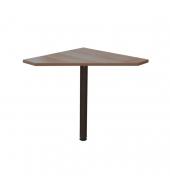 Rohový PC stôl, slivka, JOHAN 06
