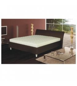 Manželská posteľ, ekokoža hnedá, 160x200, DIEGO