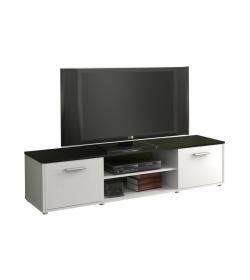TV stolík/skrinka, čierna/biela, ZUNO 01
