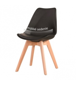 Stolička, čierna+buk, BALI