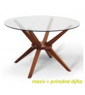 Jedálenský stôl, čerešňa, GLAS
