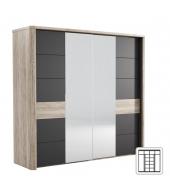 Zrkadlová skriňa LN02, san remo/grafit LUMPUR