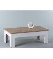 Konferenčný stolík, biela/ dub san remo, PROVENSAL