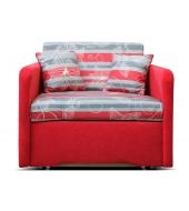 Mikra, kreslo - Suedine červená/vzor 0510-002-60