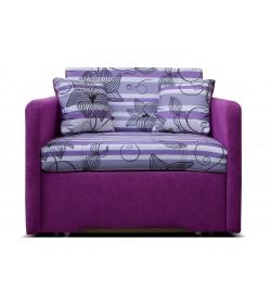 Mikra, kreslo - Suedine fialová/vzor 0510-002-65