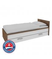 1-lôžková posteľ s úložným priestorom Alva - Slivka