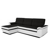 Lucan, ľavý roh L+2F - Bronco 800 biely/Inari 100 čierna