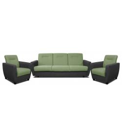 Mona 3R+1+1, 311 - Inari 95 čierna/Inari 35 zelená