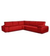 Buffalo, ľavý roh 2+A+3 - Pu soft 010 červená