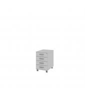 Kontajner s centrálnym zámkom (pod stôl ) 4-zásuvkový