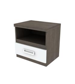Nočný stolík s jednou zásuvkou