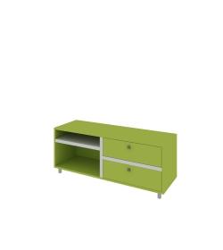 Televízny stolík s dvoma zásuvkami