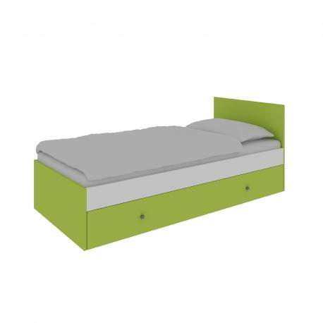 Jednolôžková posteľ s roštom a s úložným priestorom