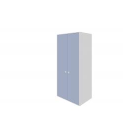 Skriňa 2-dverová 3 police, 1 závesná týč
