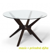 Jedálenský stôl, wenge, GLAS