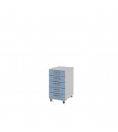 Kontajner s centrálnym zámkom (ku stolu) 5-zásuvkový