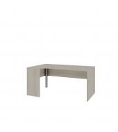 Stôl písací s drevenou podnožou a kovovou nohou ľavý