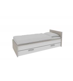 1-lôžková posteľ s úložným priestorom Alva - Akácia