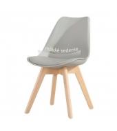 Stolička, sivá+buk, BALI