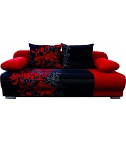 Lexus 3R , pohovka - NR7 Flowers červený/Bavlna červený kvet
