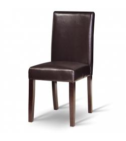 Jedálenská stolička, tmavý orech/ekokoža tmavo hnedá, VIVA