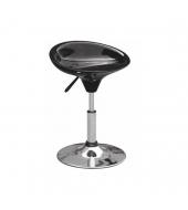 Stolička, čierny plast, chróm KARMIN