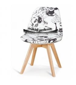 Stolička, látka marylin/drevo buk, MONROE