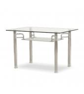 Jedálenský stôl, chróm/sklo, RENE - NEW