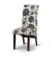 Jedálenská stolička, biela/tmavý orech, JUDY