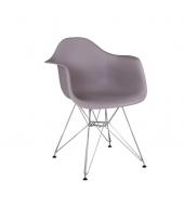 Stolička - kreslo, teplá sivá, FEMAN