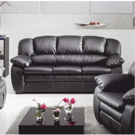 Kožený 3sed, koža YAK čierna M6900, CASINO