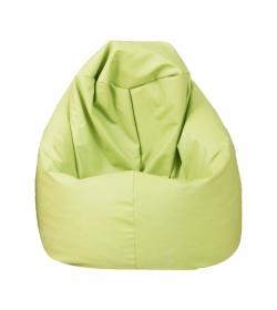 Sedací vak, zelená ekokoža, BAG VAK