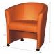 Kreslo, ekokoža oranžová, ELIZA