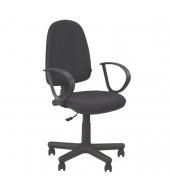 Kancelárske kreslo s podrúčkami, čierna látka, JUPITER GTS