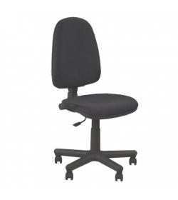 Kancelárske kreslo bez podrúčiek, čierna látka, JUPITER GTS