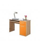 PC stôl, dub sonoma/oranžová, EMIO Typ 6